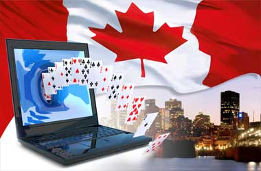 laptop Canadian flag gambling